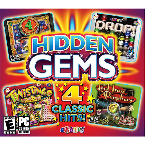 eGames Hidden Gems PC CD-ROM 4 Classic Hits!