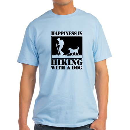 CafePress - Happiness Is Hiking With A Dog T-Shirt - Light T-Shirt - CP