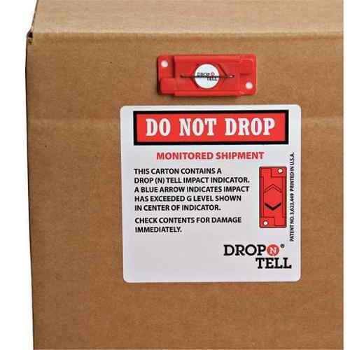 DROP N TELL DRO-2525Y G-Force Indicator, Resettable, 25G, PK25