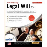 Legal Will Kit : Wills Made Easy