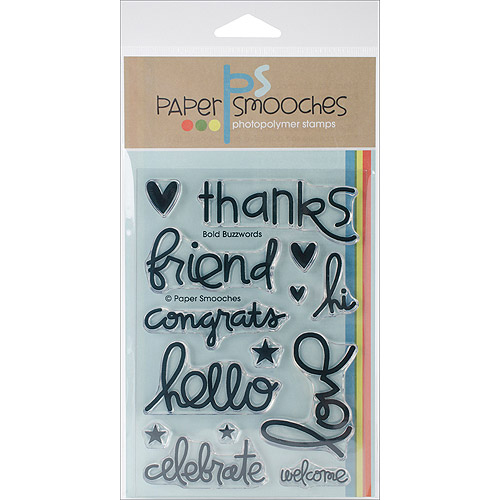 "Paper Smooches 4"" x 6"" Clear Stamps, Bold Buzzwords"