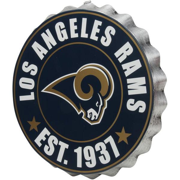 Los Angeles Rams Sign Bottle Cap Style