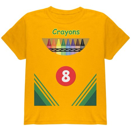 Halloween Crayon Box Costume Youth T Shirt - Penny Crayon Costume