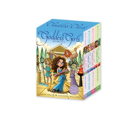 Goddess Girls Books #1-4 (Charm Bracelet Inside!) : Athena the Brain; Persephone the Phony; Aphrodite the Beauty; Artemis the Brave](Venus The Goddess Of)