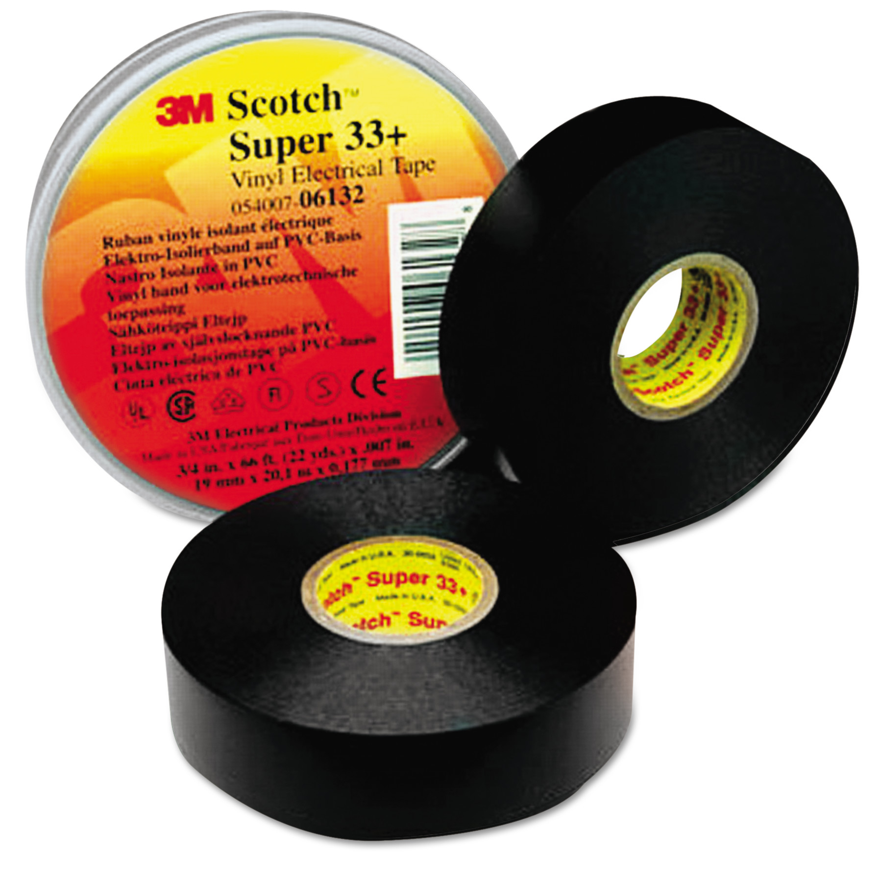 "3M Scotch 33+ Super Vinyl Electrical Tape, 3/4"" x 52ft"