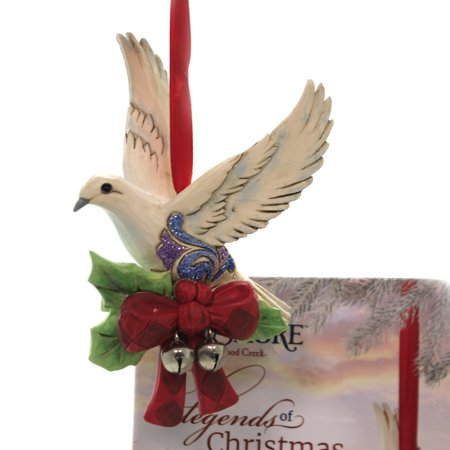 Jim Shore LEGEND OF CHRISTMAS TURTLE DOVE Polyresin 7Th In Series 6005912 ()