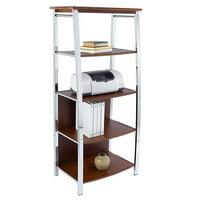 Realspace 4-Shelf Mezza Bookcase (Cherry/Chrome)