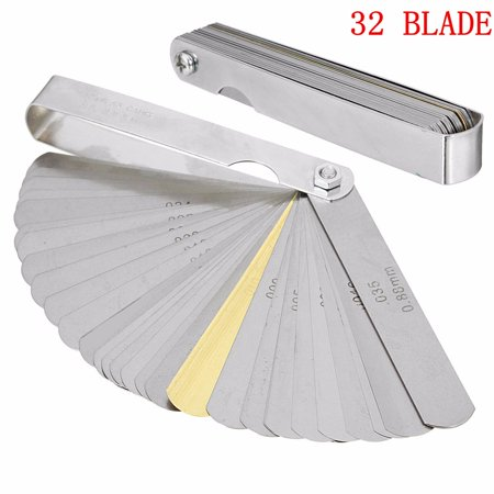 Moaere32 Blades Steel Feeler Gauge Dual Marked Metric and Imperial Gap Measuring