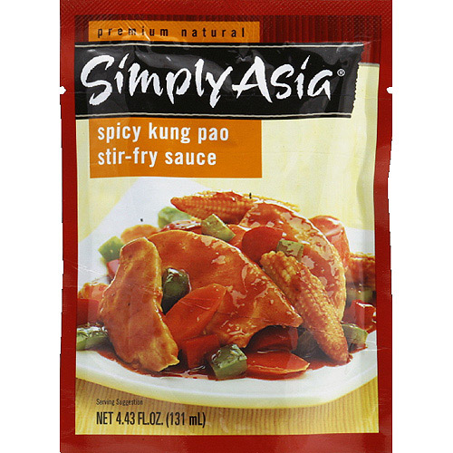 Simply Asia Spicy Kung Pao Stir-Fry Sauce, 4.43 fl oz, (Pack of 6)