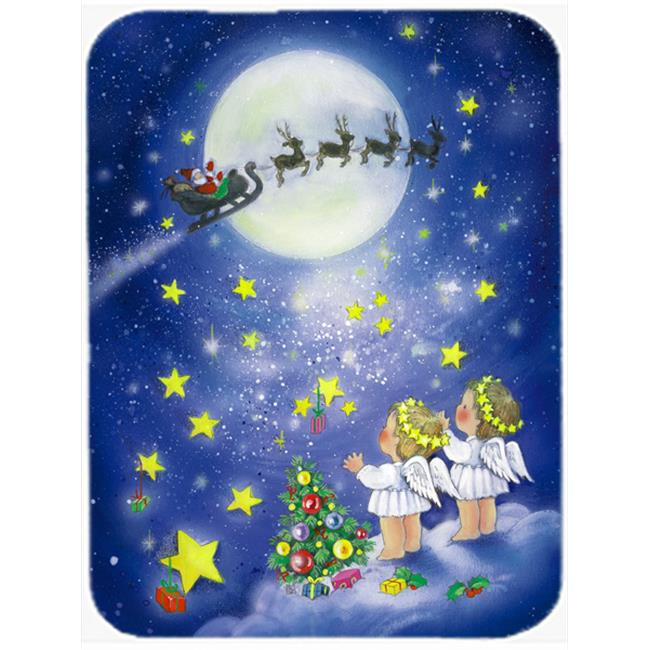 Angels Watching Santa Claus Wine Bottle Can cooler Hugger