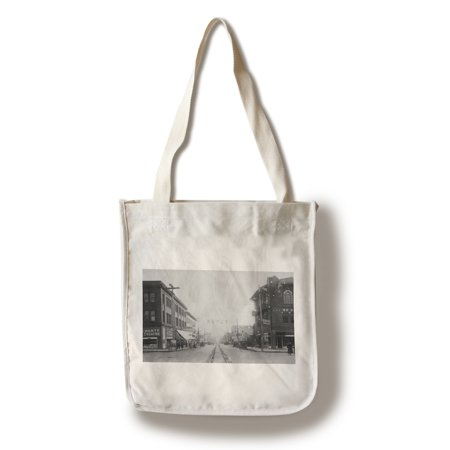 Vancouver, WA - Main Street View of Downtown Photograph (100% Cotton Tote Bag - - Halloween Vancouver Wa