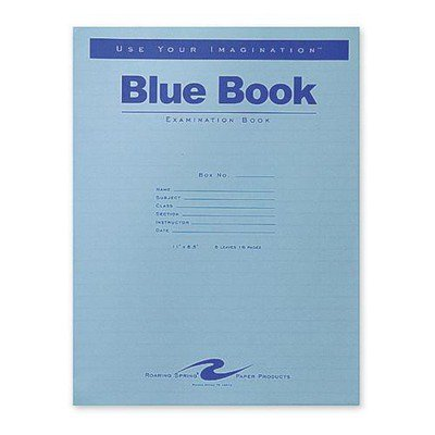 Roaring Spring Blue Examination Book Roa77517