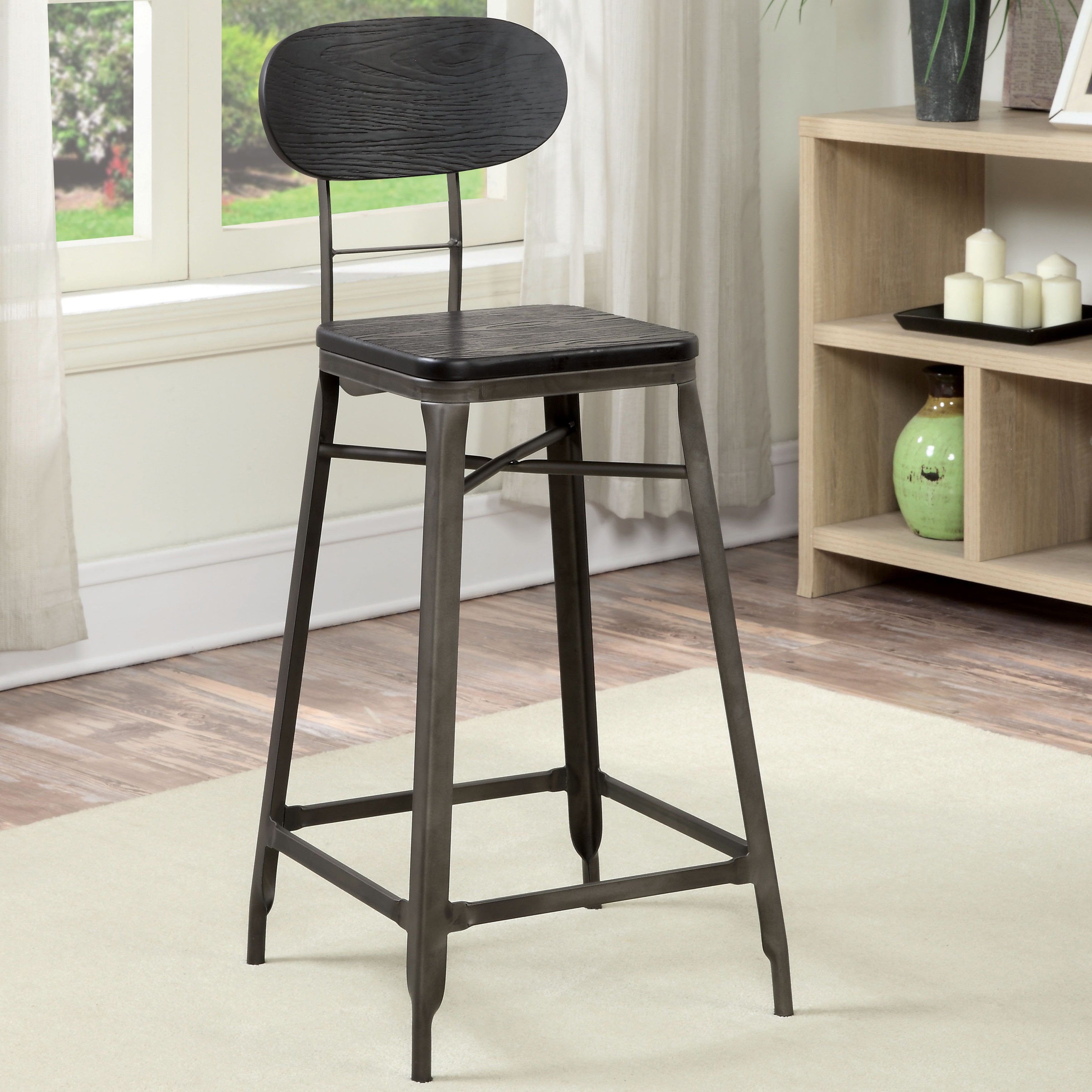 Furniture of America  Razen 26 - 29-inch Industrial Metal Bar Chair