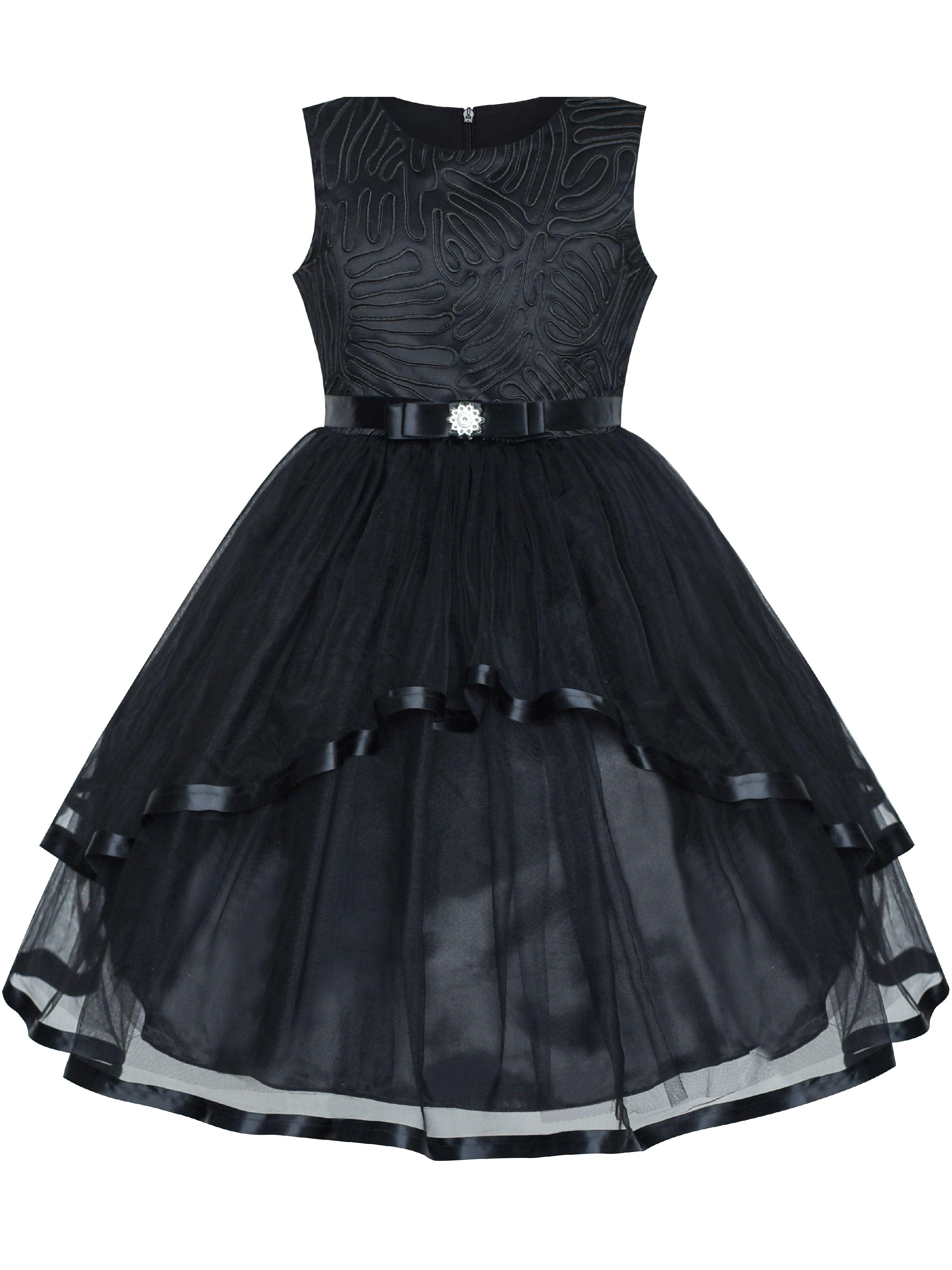 Flower Girl Dress Black Wedding Party