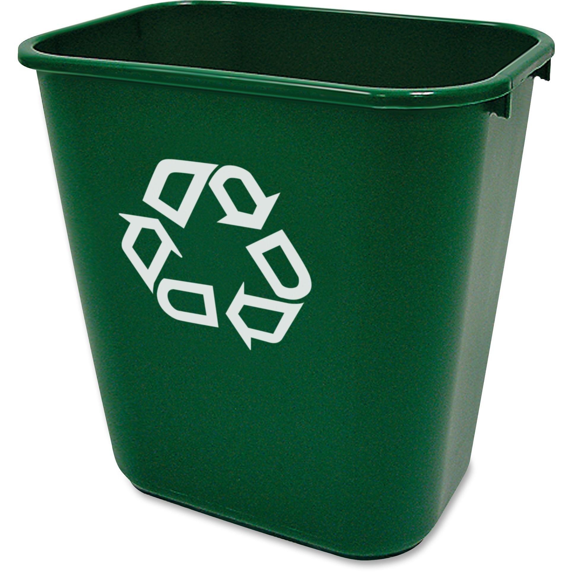 Rubbermaid Commercial, RCP295606GN, Deskside Recycling Container, 12, Green