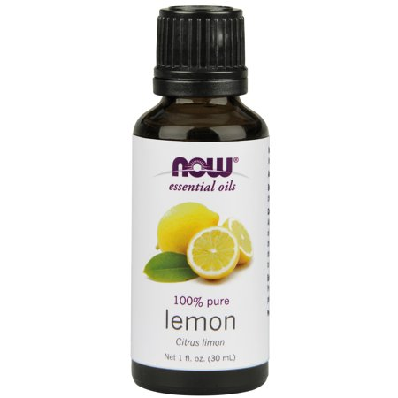 NOW Essential Oils, Lemon Oil, Cheerful Aromatherapy Scent, Cold Pressed, 100% Pure, Vegan,