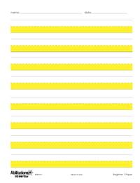 Pack of 100 Sheets Level 2 Abilitations Hi-Write Intermediate Paper