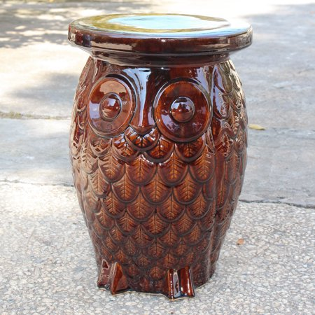 Tremendous Wise Old Owl Ceramic Garden Stool Andrewgaddart Wooden Chair Designs For Living Room Andrewgaddartcom