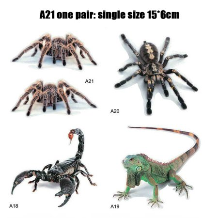 3D Car Stickers Animals Bumper Stickers Spider Lizard Scorpions Decor Car-styling Sticker Auto Motorcycle Decorations - image 3 de 7