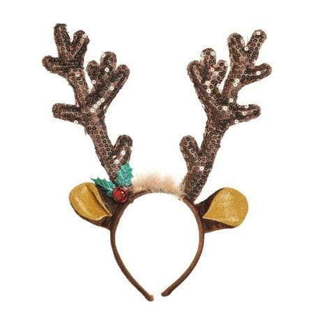 Brown Antler Headband