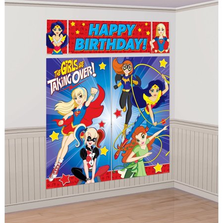 DC SuperHero Girl Scene Setters� Wall Decorating Kit, Includes 5 DC scene setters By Amscan