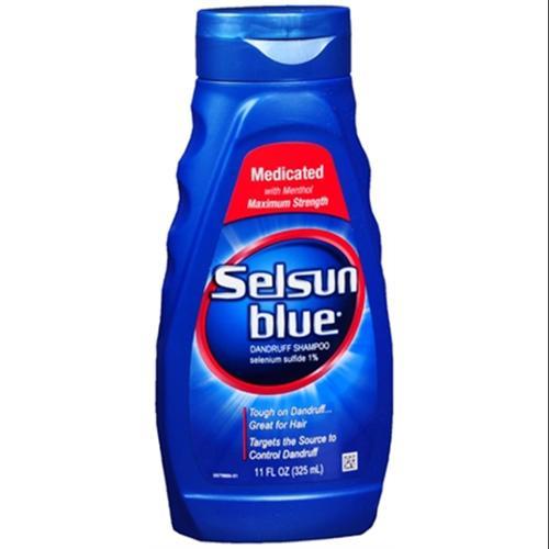 Selsun Blue Dandruff Shampoo Medicated 11 oz (Pack of 4)