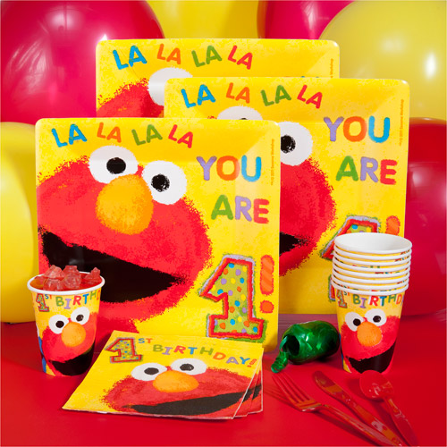 Elmos 1st Birthday KitNKaboodle Party Pack for 8 Walmartcom