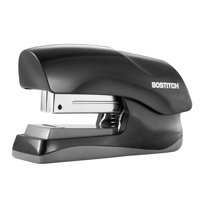 Bostitch High Capacity Compact Stapler, Flat Clinch, 40 Sheet Capacity, Black