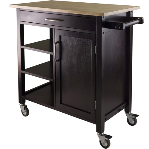 Wood Mali Kitchen Cart, Two-Tone