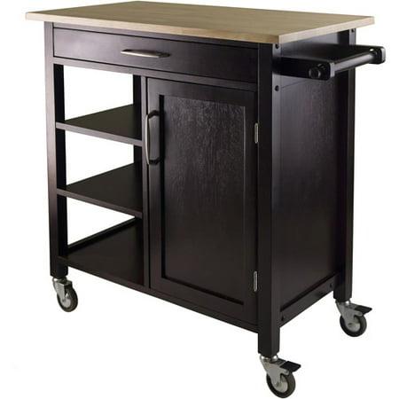Wood Mali Kitchen Cart Two Tone