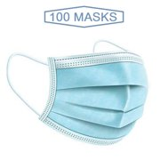 Disposable 3 Ply Ear Loop Face Masks Breathable, 100 Pieces