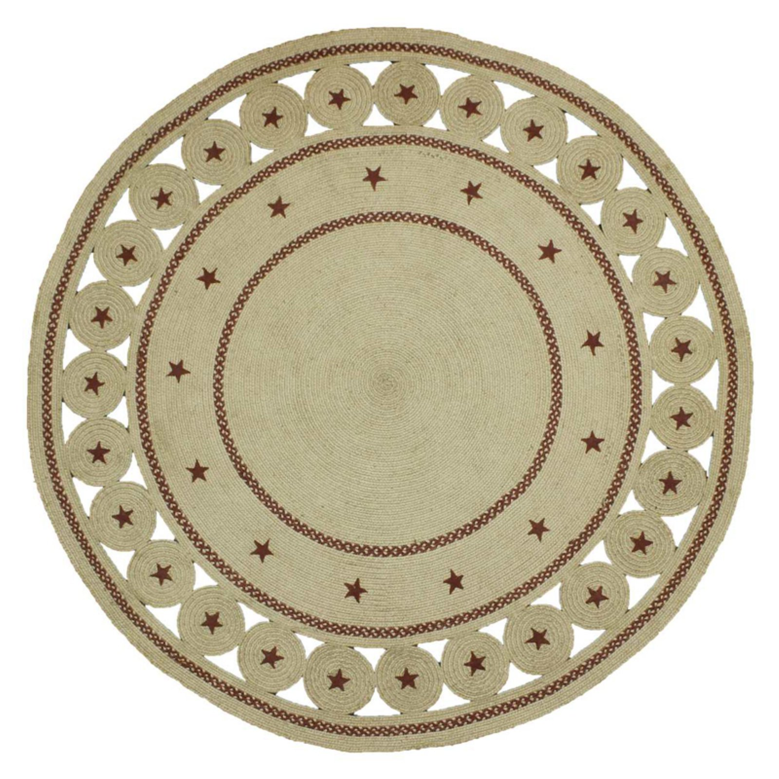 Homespice Decor Texas Star Round Braided Rug