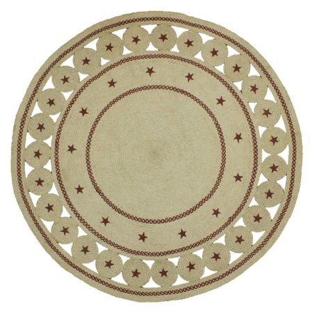 Homespice Decor Texas Star Round Braided Rug