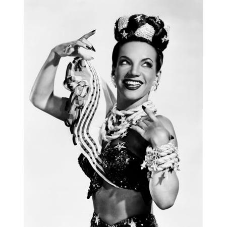 Carmen Miranda Celebrating The Fourth Of July Ca Mid-1940S Photo Print (Carmen Miranda Costume)