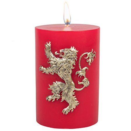 game of thrones candle - large house lannister insignia sculpted 8.5