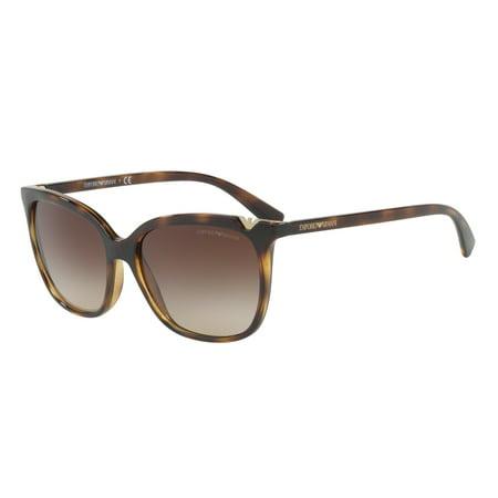 290768854c Emporio Armani - Emporio Armani 0EA4094 Square Womens Sunglasses - Size 56  (Brown Gradient   Dark Havana) - Walmart.com
