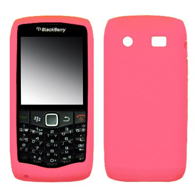 Premium Pink Silicone Gel Skin Cover Case for Blackberry Pearl 3G 9100 [Accessory Export Brand Packaging]