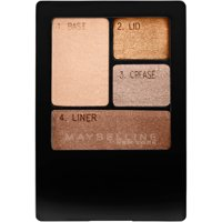Maybelline Expert Wear Eyeshadow Quads, Chai Latte, 0.17 oz.