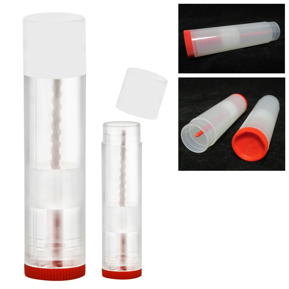 80 Lot Clear Empty Lipstick Lip Balm Container Tube Case Caps Jars Chapstick New
