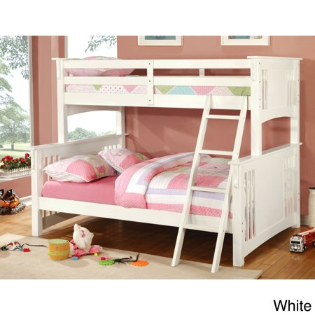 Furniture Of America Ashton Youth Twin Full Size Bunk Bed White