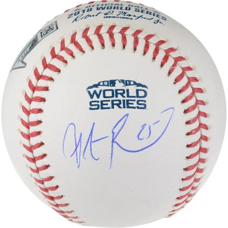Champions Autographed Card (Steve Pearce Boston Red Sox 2018 MLB World Series Champions Autographed Logo Baseball - Fanatics Authentic)