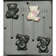 684 Teddy Bear Lollipop Chocolate Candy Mold