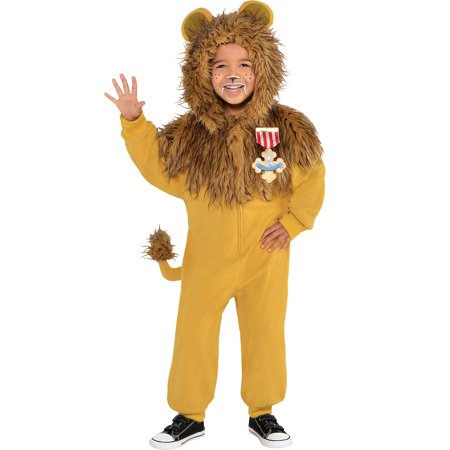 Suit Yourself Zipster Cowardly Lion One Piece Halloween Costume for Toddlers, The Wizard of Oz - Cowardly Lion Halloween Costume Toddler
