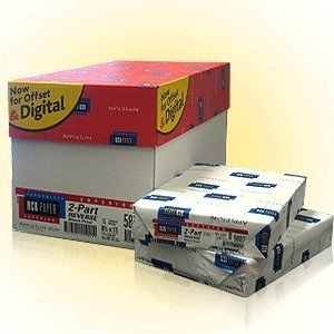 2500 Sets of NCR 8.5 x 11 Pre Collated Carbonless Paper 2 Part Reverse White, Canary NCR5887 by Ncr