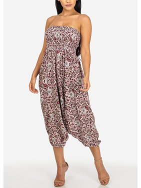 db455e6bbc8 Product Image Womens Juniors Multiway Pink and White Strapless Printed  Jumpsuit or Pants 40343I. ModaXpressOnline