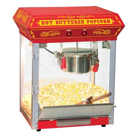 funtime 4 oz theater style hot oil popcorn maker machine, black -  walmart com