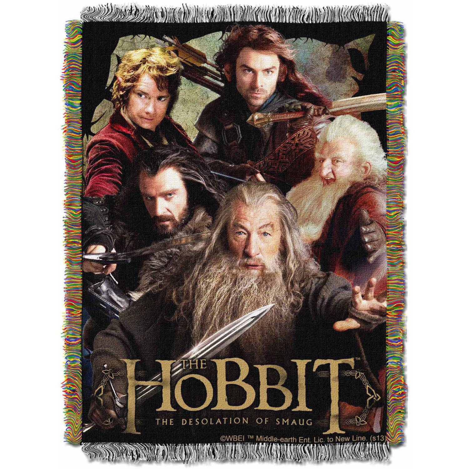 """Warner Bros. The Hobbit """"Fighting Company"""" 48"""" x 60"""" Woven Tapestry Throw"""