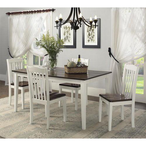 dorel living shiloh 5-piece rustic dining set - walmart