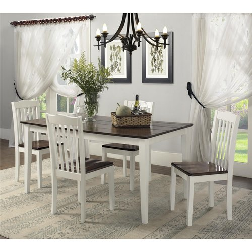 dorel living shiloh 5piece rustic dining set
