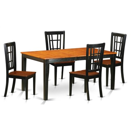 Pc Butterfly Leaf Rectangular Dining Table Set